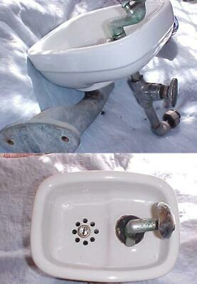 Vintage Crane Thurstend Porcelain Water Drinking Fountain Bubbler Cast Iron 1950