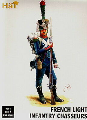 Hat 9304 - French Light Infantry Chasseurs. 1/32 Scale X 18 Figures. 54Mm