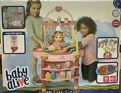 "***NEW***  Baby Alive Doll 3 in 1 Cook 'n Care Play Set for 16"" Doll"