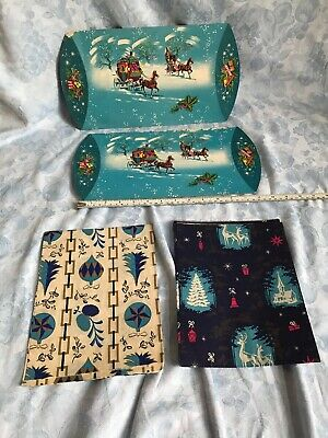Vintage christmas wrapping paper And Pillow Pack British Design