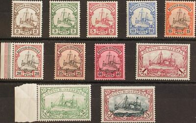 Africa Oriental Alemana. MNH/MH **/*Yv 11/21. 1900. Serie completa (el 2 p, 5 p