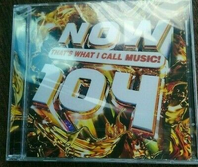 Brand New Sealed - Now Thats What I Call Music 104 - 2 X CD + NOW4 Trowback