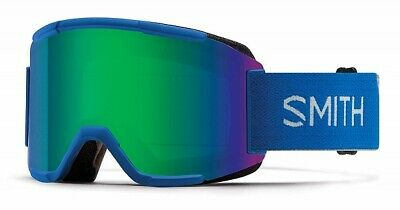 2019 Smith Squad Imperial Blue Adult Goggles w/ Green Sol-X Mirror Lens