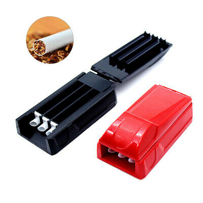 Manual Triple Cigarette Tube Injector Roller Maker Tobacco Rolling Machine D4O2S