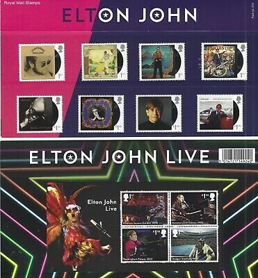 2019 Gb Qe2 Royal Mail Commemorative Stamp Presentation Pack No 575 Elton John