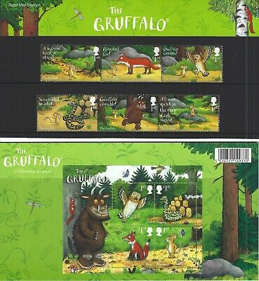 2019 Gb Qe2 Royal Mail Commemorative Stamp Presentation Pack No 577 The Gruffalo