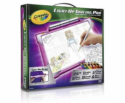 Crayola Light Up Tracing Pad Pink Ultra thin, Toys, Gift for Girls, Ages 6-10