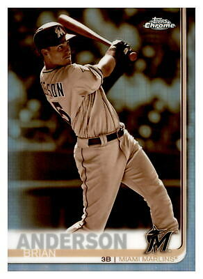 2019 Topps Chrome Sepia Refractor Brian Anderson Miami Marlins