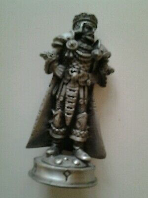 Fantasy of the Crystal Pewter Chess Piece, Arfon the Warrior King Figurine.