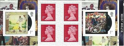2019 Royal Mail 6 X 1St Class Self Adhesive Stamp Book Elton John Pm68 Cyl