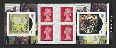 2019 Royal Mail 6 X 1St Class Self Adhesive Stamp Book Elton John Pm68