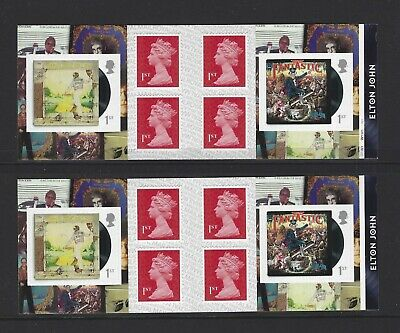 2019 Royal Mail 2 X 6 X 1St Class Self Adhesive Stamp Books  Elton John Pm68