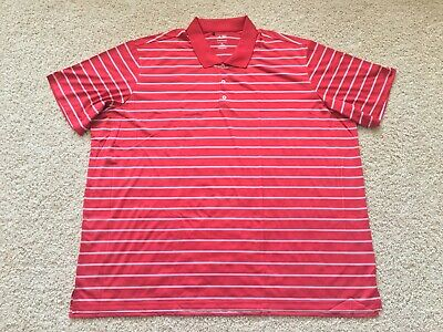 Adidas Puremotion Performance golf polo shirt 4XL Red