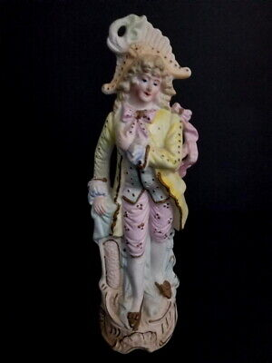 Antique Hand Painted Victorian German Bisque Figurine 11""