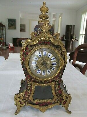 Antique Ornate Ormolu Mantel Clock Superb but As Is Restoration or Parts