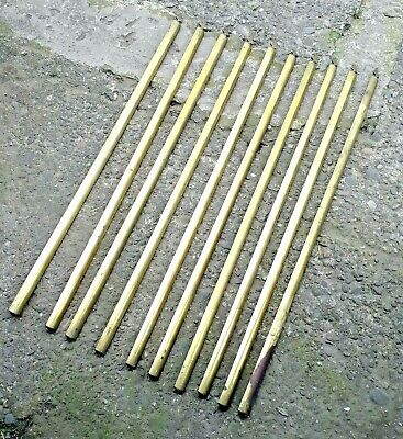 Victorian antique brass stair rods 10 of them 74cm long