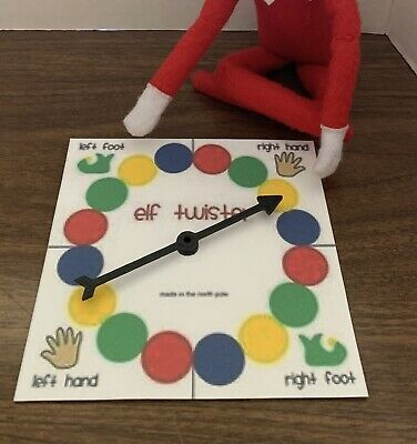 Christmas Elf Prop Twister Game For On The Shelf Accessories