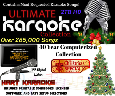 Karaoke Song Collection 265,000+ Selections - Licensed With 2 Year Warranty