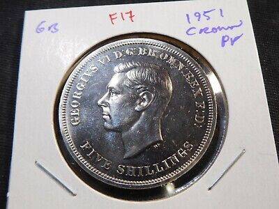 F17 Great Britain 1951 5 Shillings Crown Proof