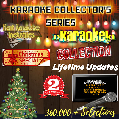 Karaoke Music Library Licensed - Lifetime Updates - Software Included.