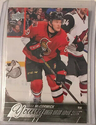 2015-16 Upper Deck Series Two Hockey Young Guns Card Max Mccormick