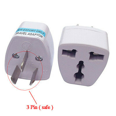 UK/US/EU Universal to AU AC Power Plug Adapter Travel 3 pin Converter Australia-