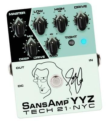 Tech 21 Nyc Yyz Geddy Lee Signature Sansamp Pedal Brand New In Box