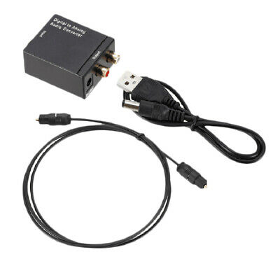 Digital Fiber Optical Toslink Signal to Analog RCA L / R Audio AUX Converter