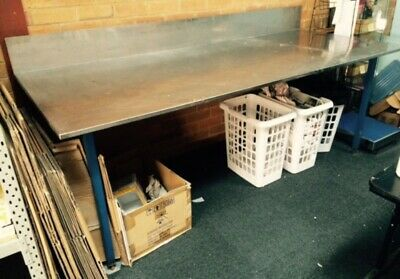 Work Bench - Stainless Steele - With Back - Welded Steele Legs/Frame