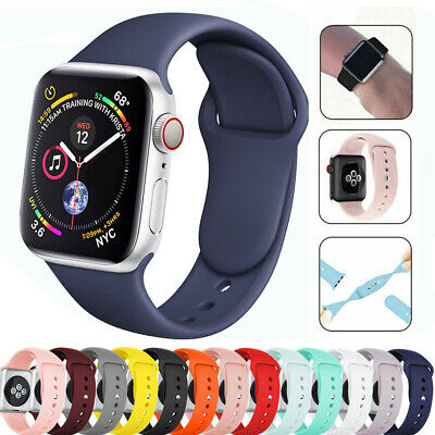 For Apple Watch Series 5 4 3 2 1 Replacement Silicone Rubber Band Strap 40/44mm