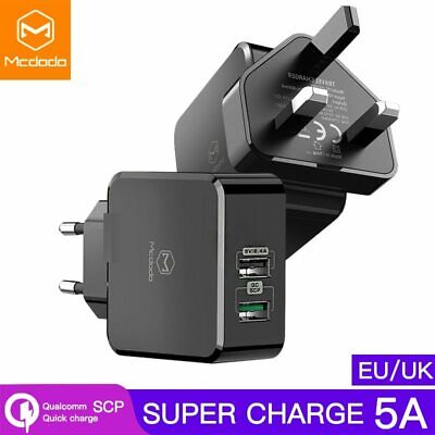Mcdodo EU/UK Adapter USB Charger 5A Super Fast charging SCP For HUAWEI P30 Mate