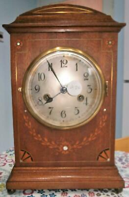 Gustav Becker Mahogany inlaid Striking Bracket Clock G.W.O.