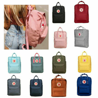 Fjallraven Kanken Handbag Outdoor Travel Bag 20/16/7 L Waterproof Sport Backpack