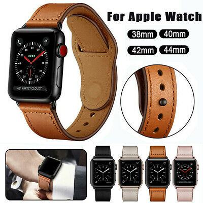 Genuine Leather Band Strap Wristband For Apple Watch Series 5 4 3 2 1 42/40/44mm
