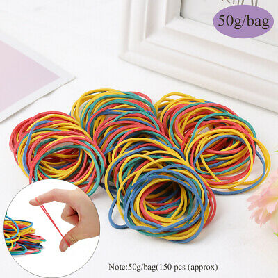 Office Supplies Storage Rope Elastica Bungee Colorful Rubber Ring Rubber Bands