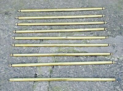 Victorian antique brass stair rods 9 of them 76cm long