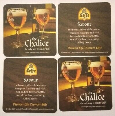 Leffe Beer Mats x 20 New and Double sided