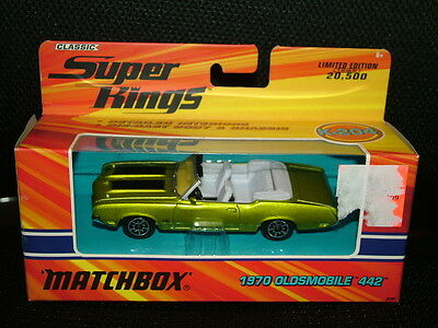 Matchbox Classic Super Kings Ltd. Ed. 1970 Oldsmobile 442, Mib, 2005, #K-204