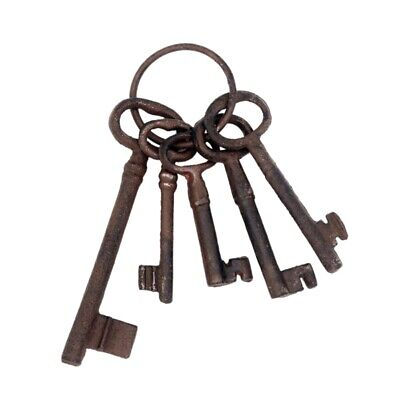 Pirate Treasure Chest Keys Set,Key Ring Antique Style,Rustic Cast Iron Skel C5G7