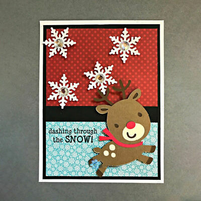New for CHRISTMAS*Cutting Dies**REINDEER**Christmas**Card**Topper