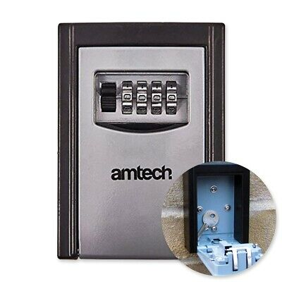 2x WALL MOUNTED COMBINATION SAFES Outdoor Mini Key Storage 4 Digit Secure Code
