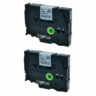 2PK TZ211 TZe211 Black On White Label Compatible for Brother P-Touch PT-1000 6m