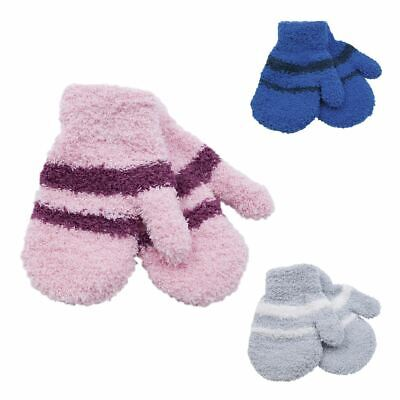 2 Pairs Babies/Toddlers Undercover Soft Touch Warm Magic Winter Mittens Gloves