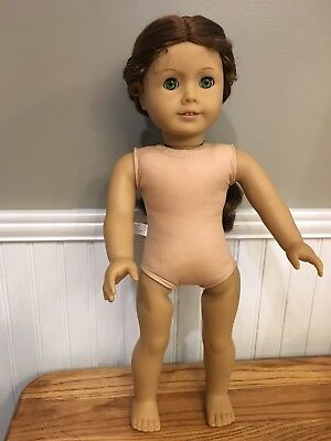 "American Girl 18"" Doll - Green Eyes/Red Hair- Historical Felicity Merriman Nude"
