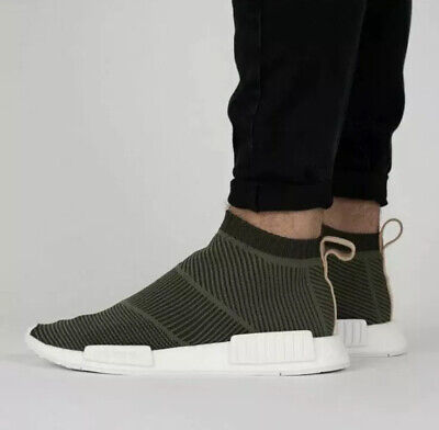 adidas B37638 Olive Green Primeknit NMD Cs1 Sock Shoes