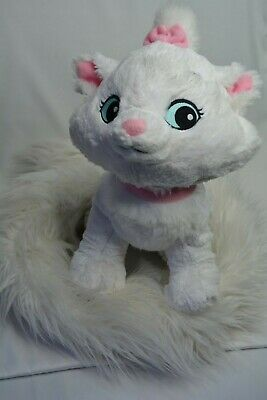 "Disney Parks ARISTOCATS Marie White Plush Stuffed Animal LONG BOA 48"" Long TAIL"