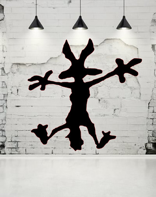 Wile E.Coyote Hitting Wall Splat Wiley Vinyl Decal Sticker