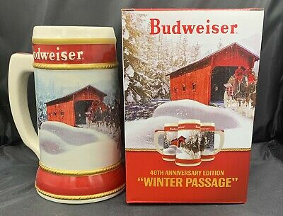 2019 Budweiser Holiday Stein 40th Christmas Series Winter Passage