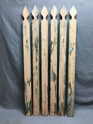 Six Antique Picket Fence Crafts Garden Shabby Cottage Chic Old Vtg 49-19B
