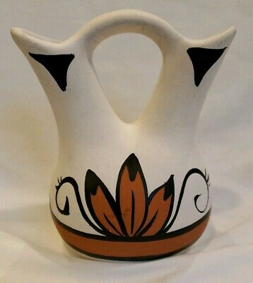 """Southwest Wedding Vase BETTY SELBY Miniature Pottery 5.5"""" Tall Signed"""